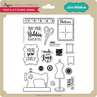 Print & Cut Stamps Sewing