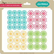 4 Lace Flower Backgrounds 1