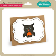 A2 Pop Dot Card Halloween Owl