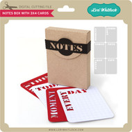 Notes Box with 3X4 Cards