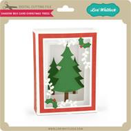 Shadow Box Card Christmas Trees