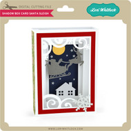Shadow Box Card Santa Sleigh