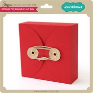 String Tie Round Flap Box