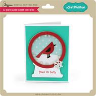A2 Snow Globe Shaker Card Bird