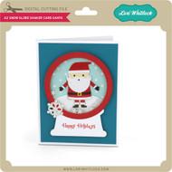 A2 Snow Globe Shaker Card Santa