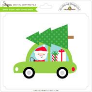 Santa in Car - Here Comes Santa