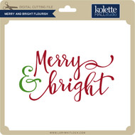 Merry and Bright Flourish
