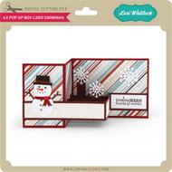 A2 Pop Up Box Card Snowman