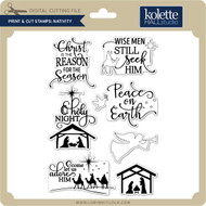 Print & Cut Stamps Nativity