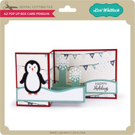 Pop Up Box Card Penguin