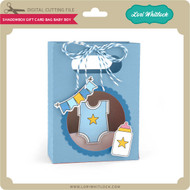 Shadowbox Gift Card Bag Baby Boy