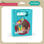 Shadowbox Gift Card Bag Birthday Presents