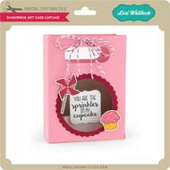 Shadowbox Gift Card Bag Cupcake