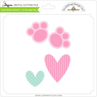 Paw Prints Hearts Kitten Smitten
