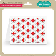A2 Stacking Card Base Quatrefoil
