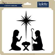 3 Nativity Kneeling