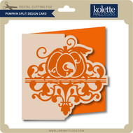 Pumpkin Split Design Card