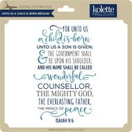 Unto Us a Child is Born Messiah