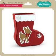 3D Stocking Reindeer