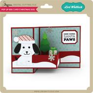 Pop Up Box Card Chistmas Dog
