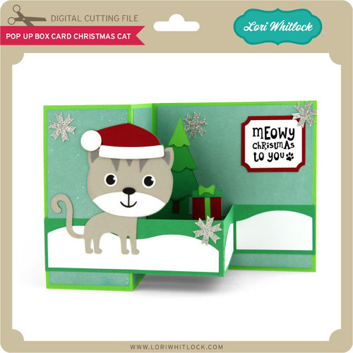 Pop Up Box Card Christmas Cat