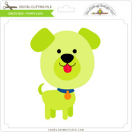 Green Dog Puppy Love