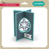 A2 X-Card Snowflake