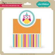 Peek a Boo Card Birthday Owl