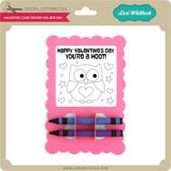 Valentine Card Crayon Holder Owl
