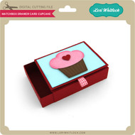 Matchbox Drawer Card Cupcake