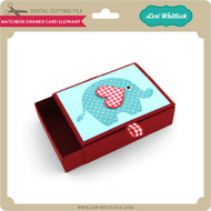 Matchbox Drawer Card Elephant