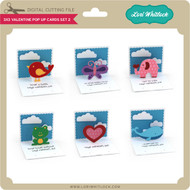 3x3 Valentine Pop Up Cards Set 2