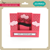 Center Box Card Love Birds