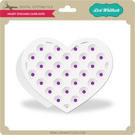 Heart Stacking Card Dots