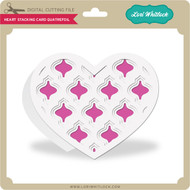 Heart Stacking Card Quatrefoil