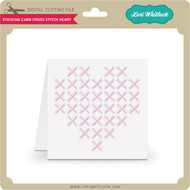 Stacking Card Cross Stitch Heart