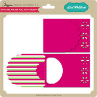 Gift Card Holder Pull Out Scallop