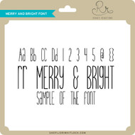 Merry and Bright Font