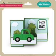 Pop Up Box Card St Patrick's Truck