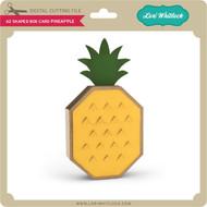 A2 Shaped Box Card Pineapple