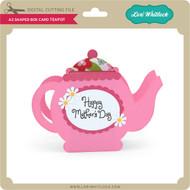 A2 Shaped Box Card Teapot