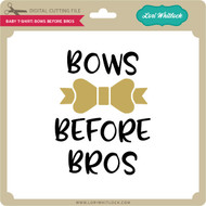Baby T-Shirt Bows Before Bros