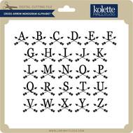 Cross Arrow Monogram Alphabet
