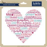 Grandma Word Collage