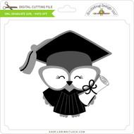 Owl Graduate Girl - Hats Off