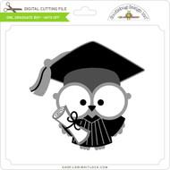 Owl Graduate Boy - Hats Off
