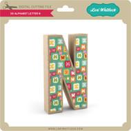 3-D Alphabet Letter N