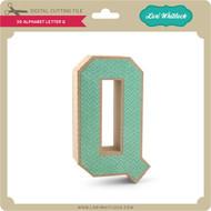 3-D Alphabet Letter Q