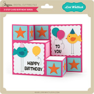 3 Step Card Birthday Birds