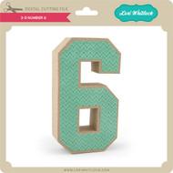 3-D Number 6